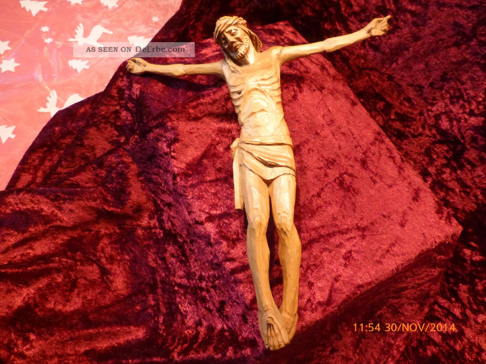 Schöner Handgeschnitzter Korpus,  Christus,  Holz Holzarbeiten Bild