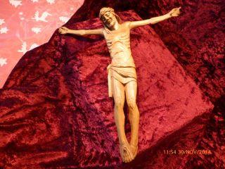 Schöner Handgeschnitzter Korpus,  Christus,  Holz Bild