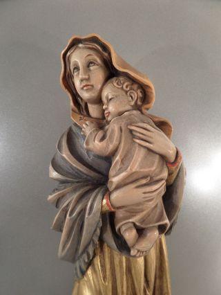 Alte Madonna Mit Jesus Kind Holzfigur Holzschnitzerei Muttergottes J.  GÜck 42 Cm Bild