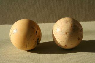 Antike Bein Billard Kugeln - Billiard Bälle Snooker Balls 360 Gramm - 5,  7 Cm Bild