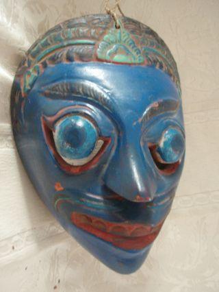 Sehr Dekorative Antike Holz Maske Aus Asien - Thailand - Indonesien Aus Kult/ Ritual Bild