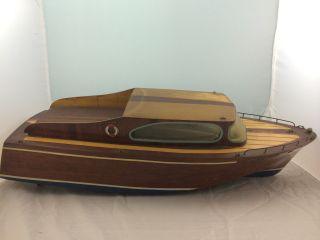Altes Schiff Boot Echte Handarbeit Holzschiff Sehr Selten 72 Cm 60er Jahre Bild