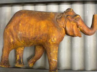 Antiker Holz - Elefant,  Schnitzerei,  Handarbeit,  Nr.  1,  Reparieren Bild