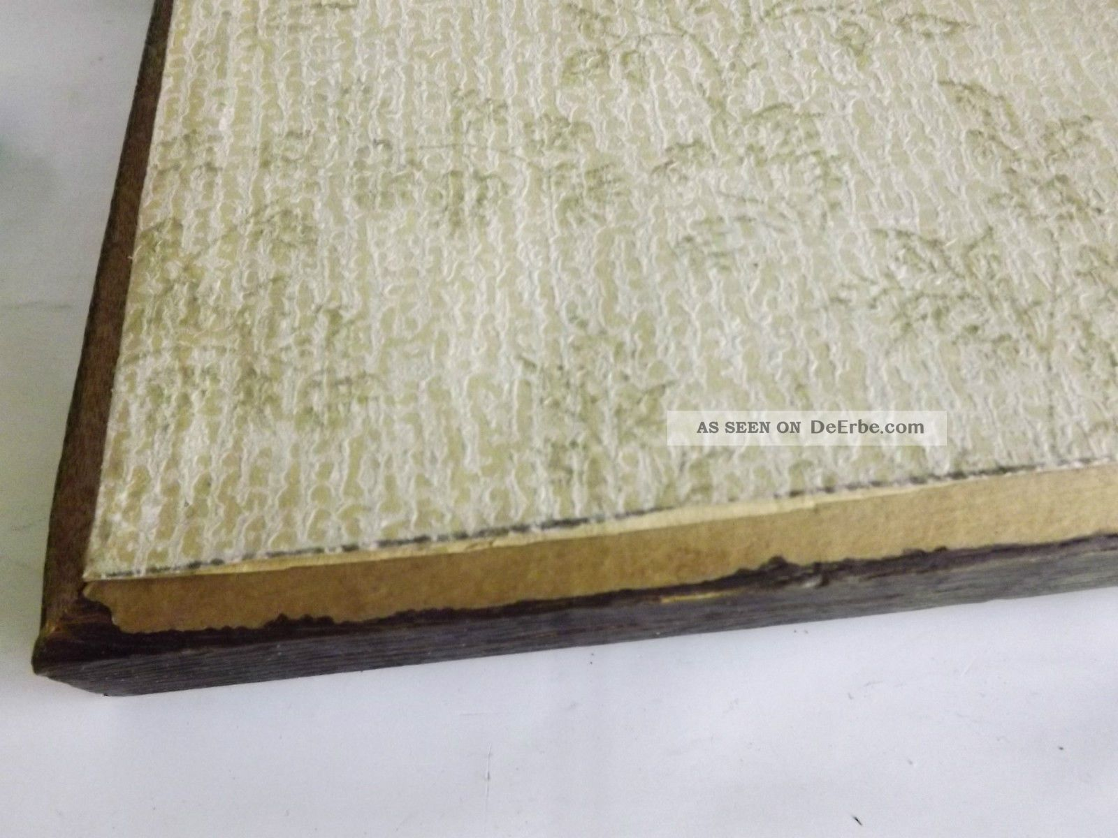 antikrahmen bilderrahmen echtholz mit bild aus holz signiert. Black Bedroom Furniture Sets. Home Design Ideas