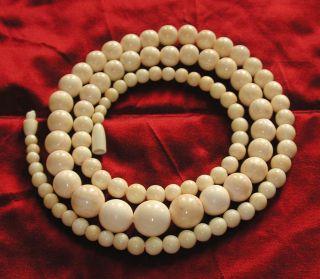 Schöne Art Deco Halskette Aus Bein Kugel 51 Gramm 76 Cm Art Déco Bild