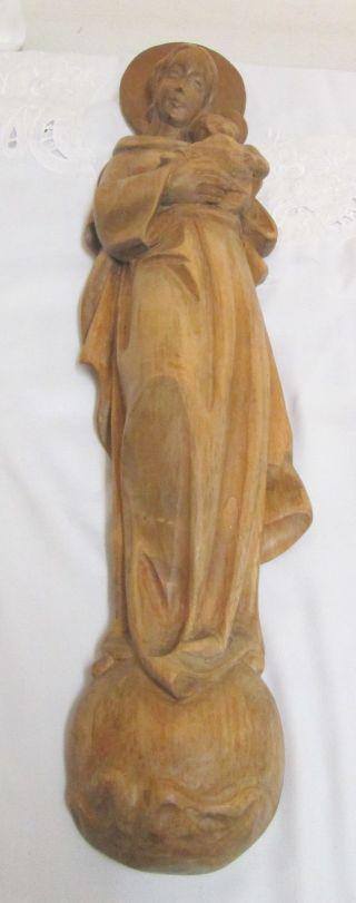 Große Madonna Mit Kind Geschnitzt In Bergahornholz Bild