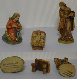 Geschnitzte,  Bemalte Krippenfiguren 11 - Tlg.  Holzkrippenfiguren Bild
