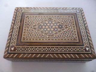 Schatulle Holzschachtel Mit Intarsien Einlegearbeiten Sehr Aufwändig Ansehen Bild