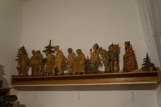 Werbeschild,  Wernesgrüner,  Holzfiguren Bild