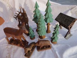 Handgeschnitzte Figuren Und Bäume,  Für Außen,  Groß,  Bis 30cm,  Weihnachtsschmuck Bild