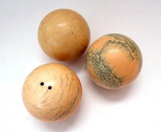 Billiard Kugeln Bälle Bein Bone Balls Antique Vintage Carambolage Karambol Bild