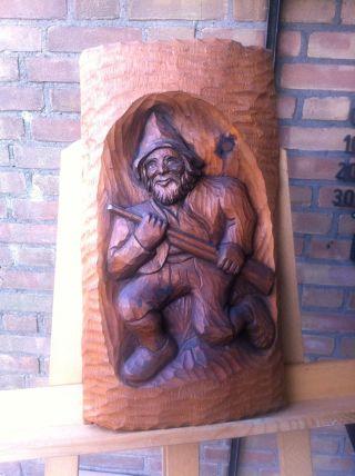 Drei Holzreliefs Und Ein Holzteller,  Jagd Allgäu Tirol Gemse Jäger Wandschmuck Bild