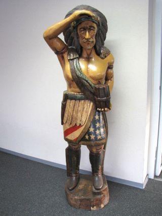 Indianer Figur Lebensecht Bild