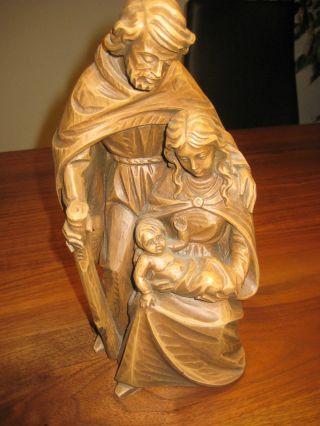 Antike Holzgeschnitzte Madonna; Josef Mit Kind Geschätzt Auf Um 1900 Größe 26cm Bild