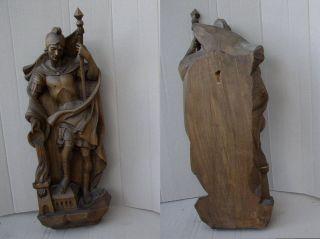 Grosse Holzfigur Heiliger Sankt Florian Florian Floriansjünger Feuerwehr Bild