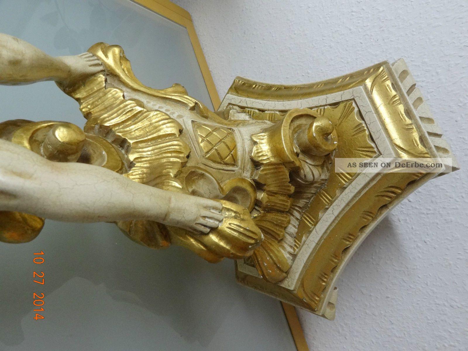 holz s ule putte putto skulptur skulpture 113 cm design