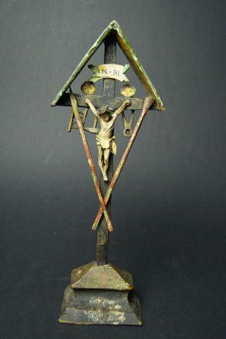 Barock Jesus Kruzefix Um 1770 - 1810 Holz Geschnitzt U.  Gefasst Bild