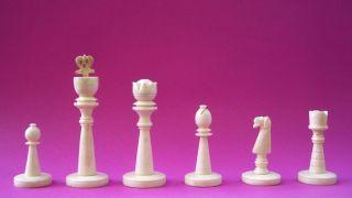 Alte Indische Bein - Schachfiguren Schachspiel,  Schachbrett Schach Echec Chess Bild