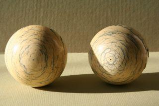 Antike Bein Billard Kugeln - Billard Bälle Snooker Balls 464 Gramm - 6,  3 - 6,  4 Cm Bild