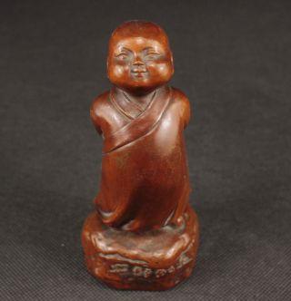 Kostbar Alte Handgeschnitzt Buddha Skulpturen,  Buchsbaum Holz,  Boxwood,  China Bild