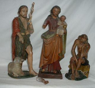 Aus Haushaltsauflösung: Drei Alte Sakrale Holzfiguren Bild