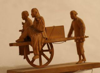Holzfigur Um 1900 Aus China,  Geschnitzt Bild