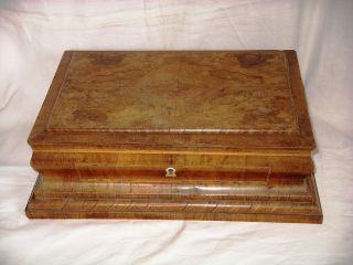 Kassette Massiv Holz Topp Furniert Um 1800 Orig.  Zum Restaurieren Bild