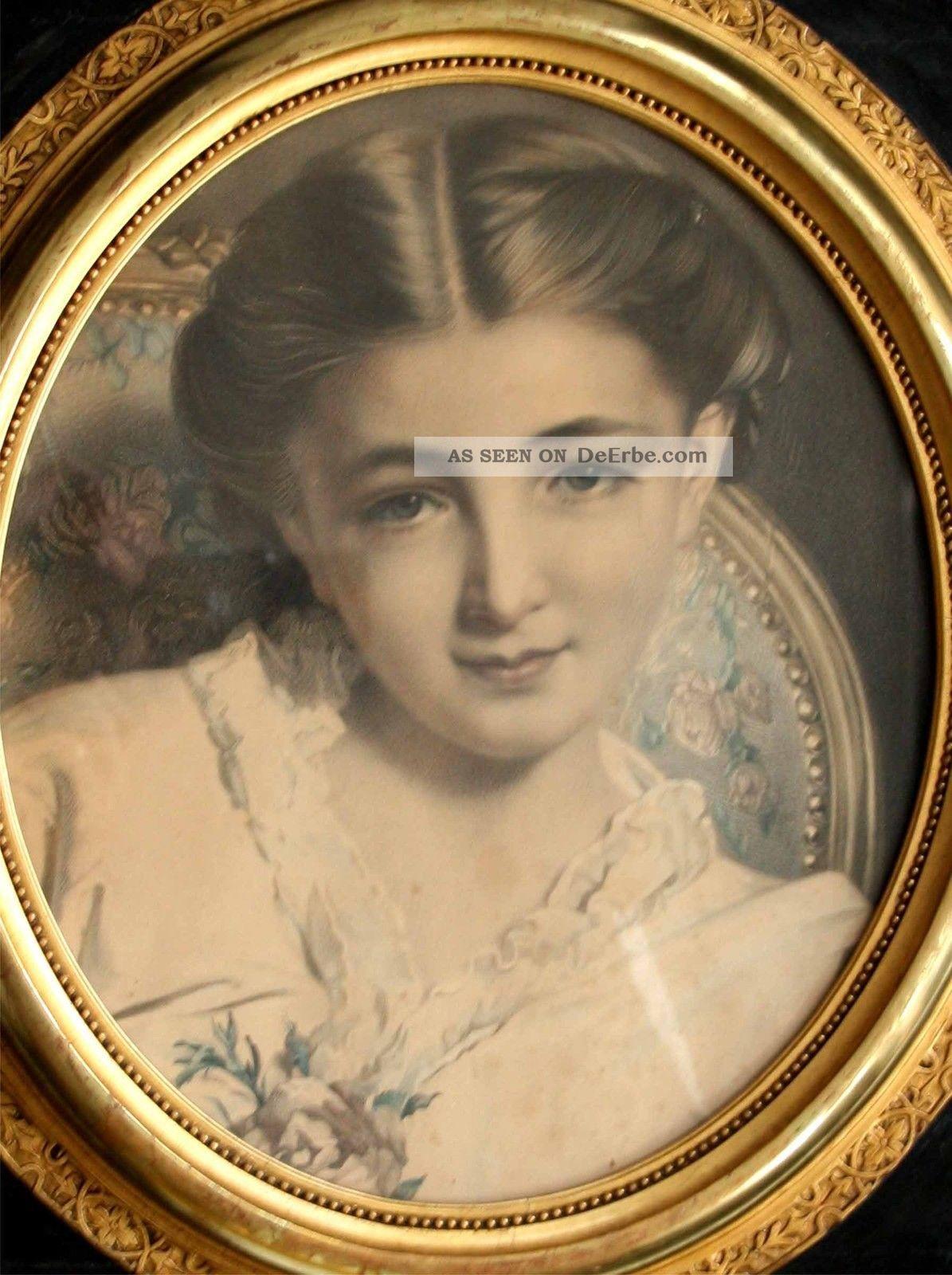Bilderrahmen Holz Handarbeit ~ Napoleonischer Holz  Rahmen Bilderrahmen Handarbeit Mit Vergoldung
