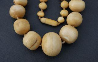 1. ))  Einmalig,  SchÖne Art Deco - Bein Halskette - 75 Cm Lang / 125 Gramm Schwer Bild