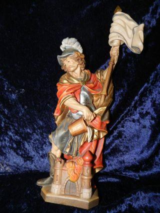 Heiliger Florian Hl.  38cm Ploner Frieda Südtirol? Heiligenfigur Holz Geschnitzt Bild