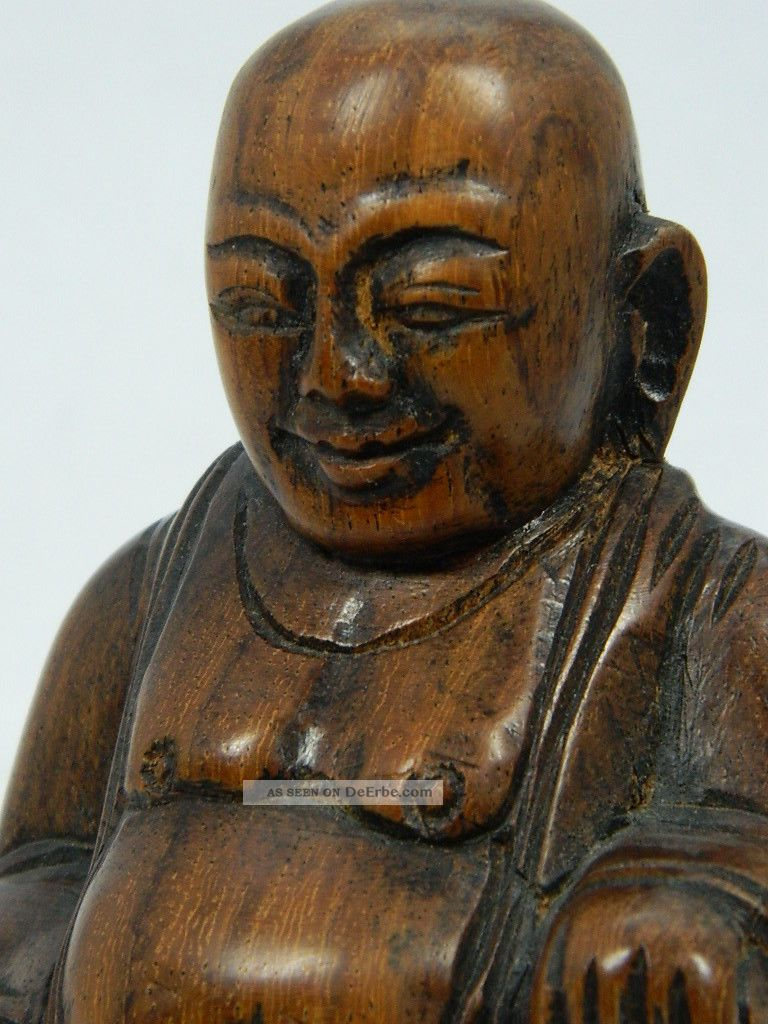 skulptur des budai aus holz hotei buddha figur h he 10 cm asien china 20 jhd. Black Bedroom Furniture Sets. Home Design Ideas