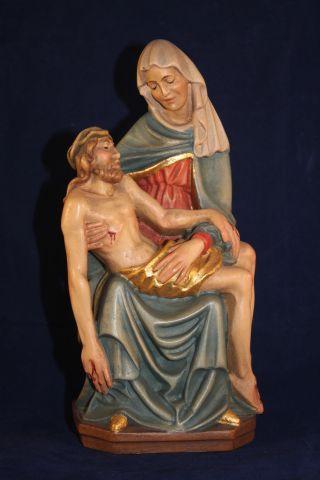 Holz Geschnitzte Heiligenfigur Jesus Und Maria Gold Und Bunt Gefasst L Bild