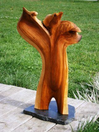 Skulptur - Phönix,  Apfelholzskulptur,  Sculpture,  Woodcarving,  Applewood Bild