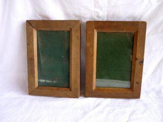 Holz Kassette Bilderrahmen Kopierrahmen 1920er - 1930er Jahre Bild