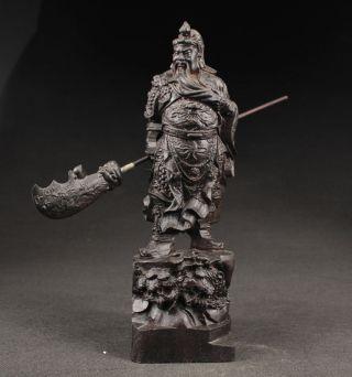 Große Guanyu Held 关羽 Skulpturen,  Ebenholz Holz,  China Selten Bild