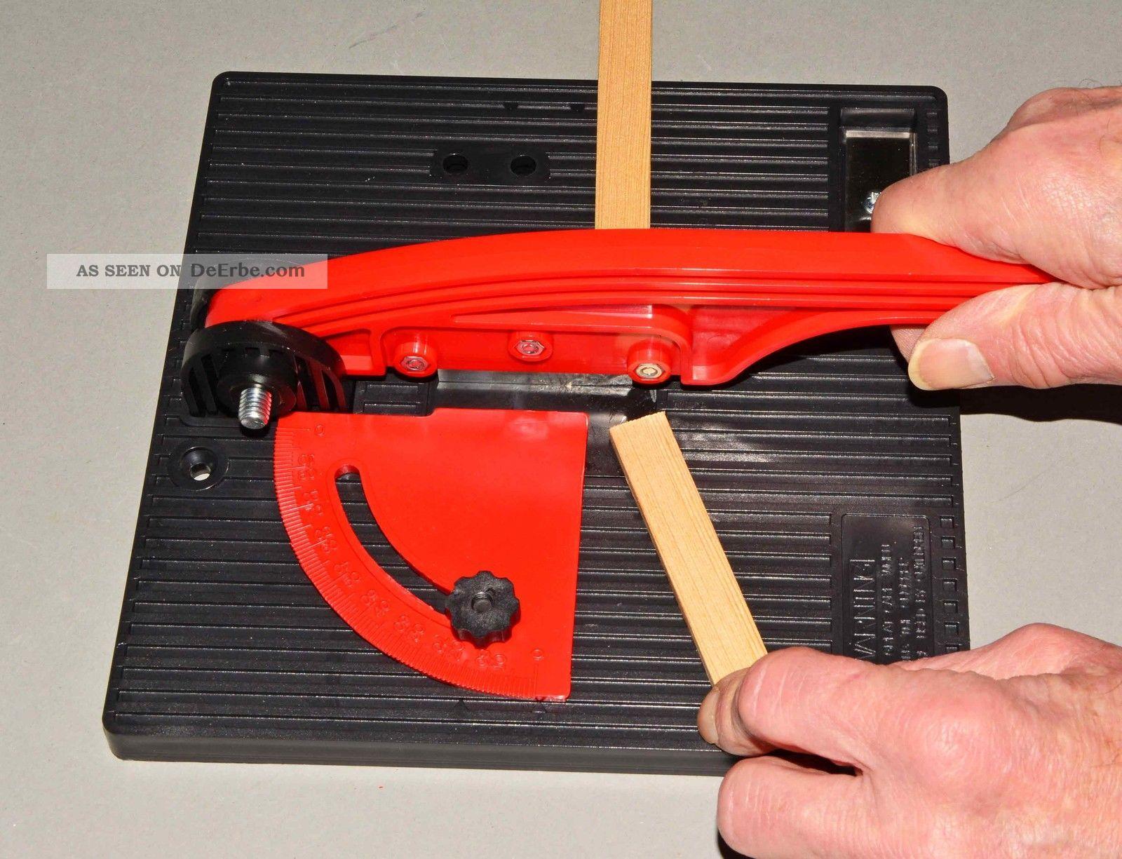 holz und kunststoff genauestens auf gehrung schneiden - effektiv und