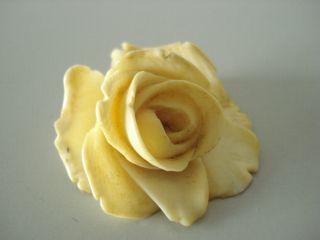 SchÖne Antike Große AnhÄnger Geschnitzte Rose Aus Bein Um1920/30 Sehr SchÖn Bild
