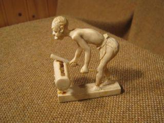 ▀ ▀ ▄ ▄ Uralte Figur Aus Bein Geschnitzt - Vermutl.  Um 1800 Bild