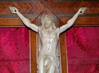 Feine Beinschnitzerei Kruzifix/jesus Aus Der Zeit Um 1860, Bild