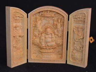 Sammeln Chinesischen Buddha Skulpturen,  Buchsbaum Box Wood,  Selten Bild