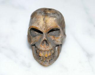 Totenkopf Bein Geschnitzt - 19.  Jahrhundert - Memento Mori,  Skull (3022) Bild