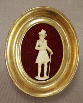 Silhouette Aus Bein Relief Miniatur Schnitzerei Biedermeier Bild