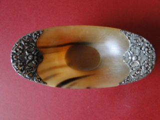 Jugendstil - Schale - Horn Mit Silbermontur Bild