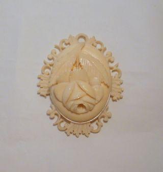 Antikes Medaillon Aus Bein.  SÜddeutschland Um 1900 Bild