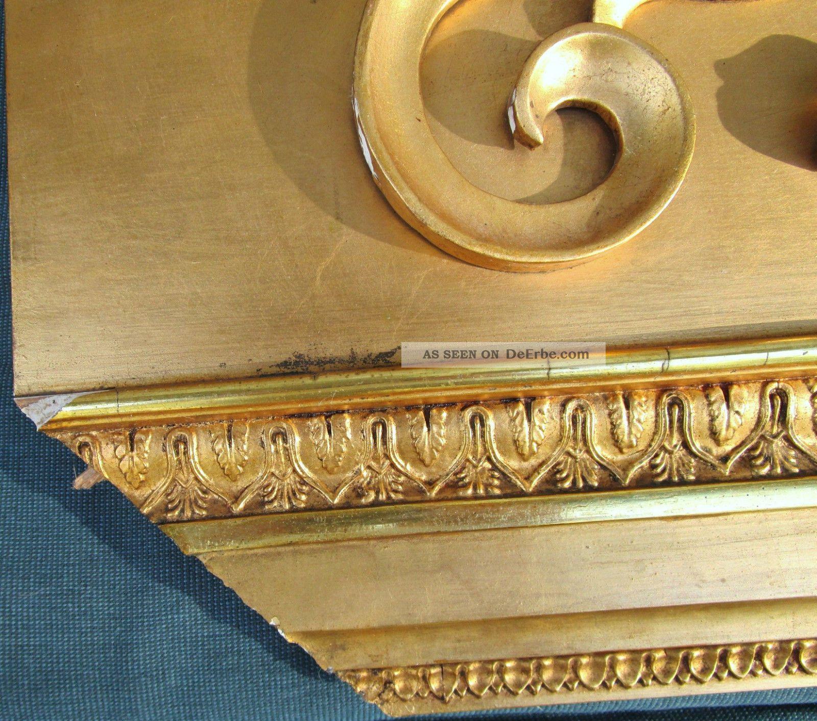 supraporte t raufsatz wanddekoration holz 67 x 43 cm vergoldet. Black Bedroom Furniture Sets. Home Design Ideas