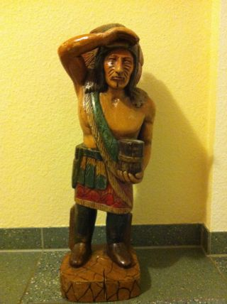 Indianer Aus Holz Bild