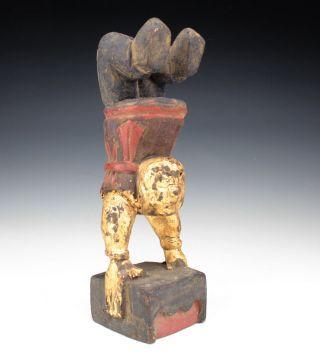 Sammeln Alte Kinder Kung Fu Skulpturen,  Holz,  China Selten Bild