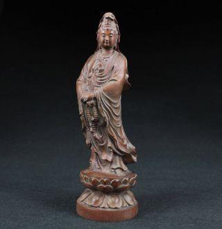 Sammeln Alte Kwan - Yin Skulpturen,  Buchsbaum Holz,  Boxwood,  China Selten Bild