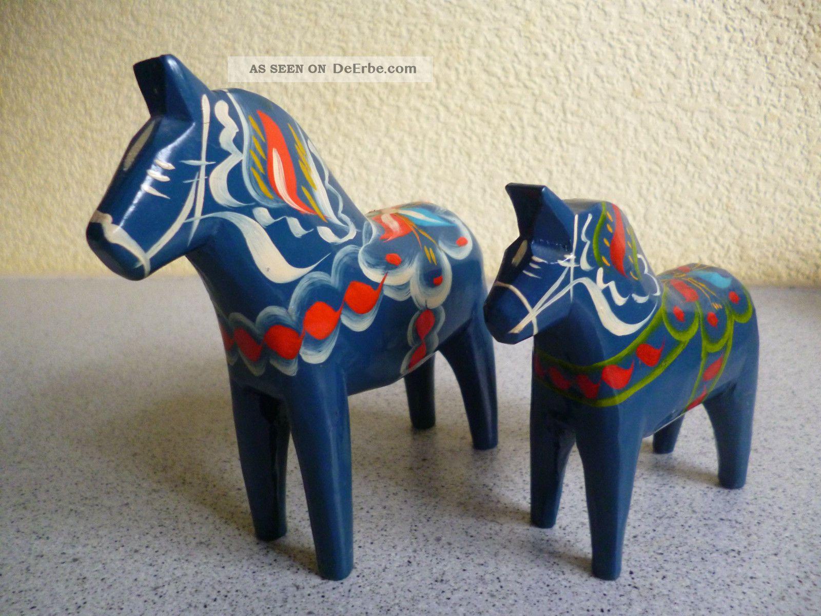Dalarna Pferd 2 x dala dalarna pferd aus holz blau schweden dalapferd gudmunds