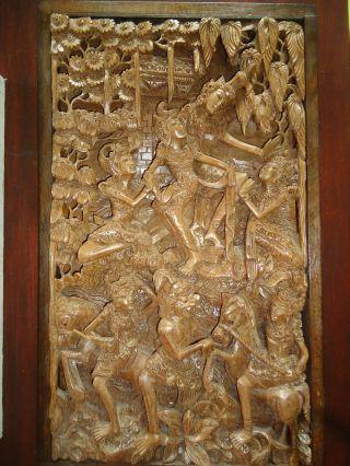 Älteres Reliefbild - Burmesisch/thailändische Kunst - Aus Einem Holz Bild